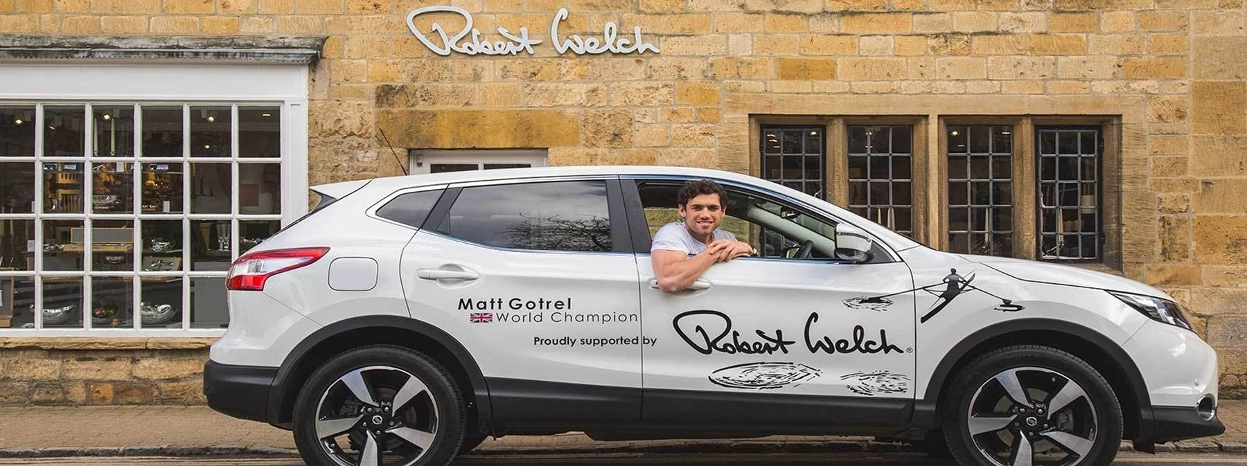 Robert Welch sponsor Matt Gotrel, world champion rower