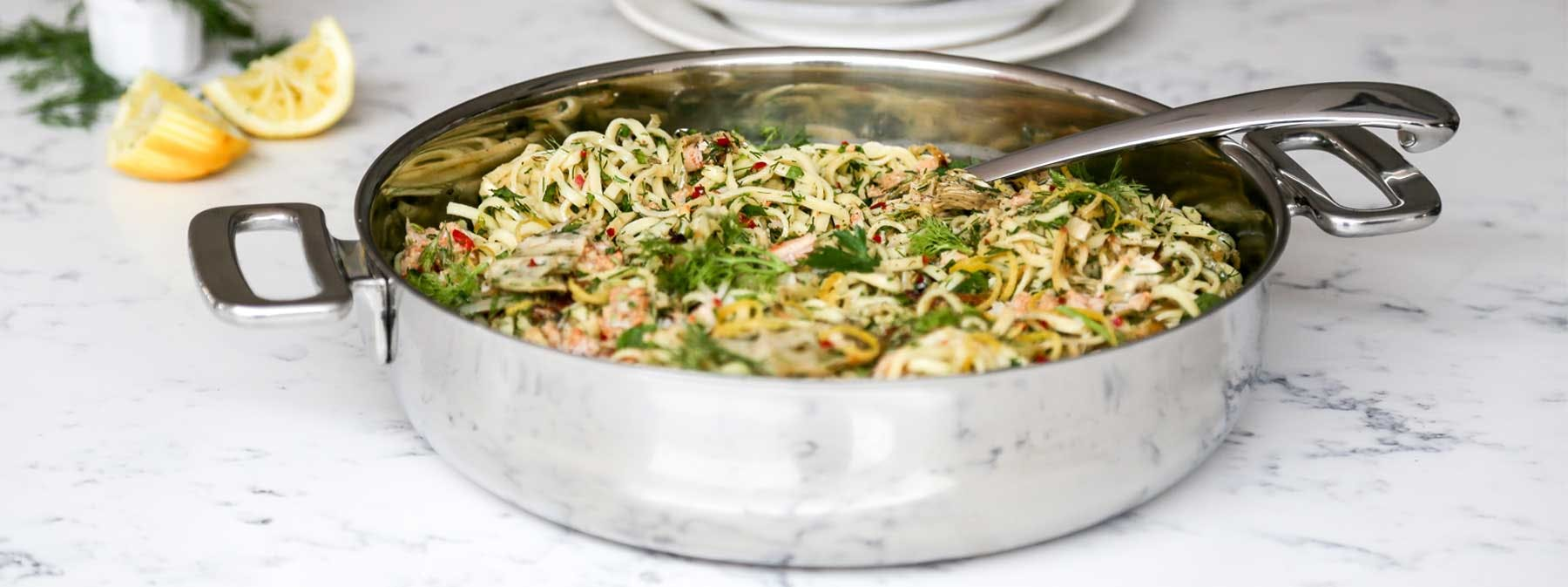 Signature Recipes | Triple fennel & crab spaghetti with chilli and herbs